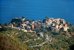 Corniglia Cinque Terre. Liguria. Sea and beach in Northern Italy, UNESCO SITE and Natural Reserve Stock Photo