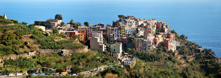 Corniglia Cinque Terre. Liguria. Sea and beach in Northern Italy, UNESCO SITE and Natural Reserve Royalty Free Stock Images
