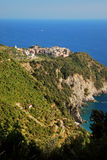 Corniglia Cinque Terre. Liguria. Sea and beach in Northern Italy, UNESCO SITE and Natural Reserve Royalty Free Stock Photos