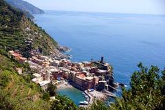 Corniglia, Cinque Terre, Italië Stock Foto's