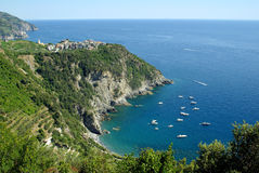 Corniglia, Cinque Terre, Italia Fotografia Stock Libera da Diritti