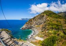 Corniglia, Cinque Terre, Italia - porticciolo Immagini Stock