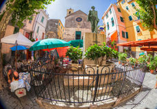 Corniglia, Cinque Terre, Italie - grand dos principal Images libres de droits