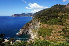 Corniglia Cinque Terre, Italien Royaltyfri Bild