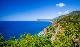 Corniglia, Cinque Terre, Italy - Coast Royalty Free Stock Photo