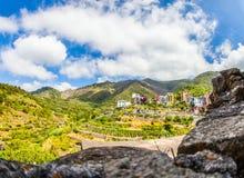 Corniglia, Cinque Terre, Italy - Mountains Royalty Free Stock Photos