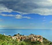 Corniglia, Cinque Terre, Ligurië Stock Foto
