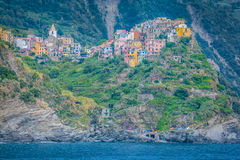 Corniglia Cinque Terre, Liguria, Italien Royaltyfria Foton