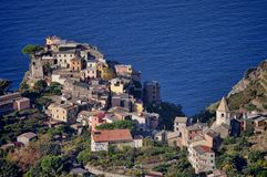 Corniglia coast Stock Photos