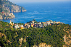 Corniglia from a distance Royalty Free Stock Photo