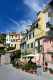 Corniglia Dorf in Cinque Terre, Ligurien, Italien Lizenzfreie Stockfotografie