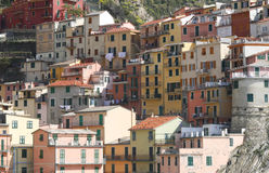 Corniglia houses Stock Photos