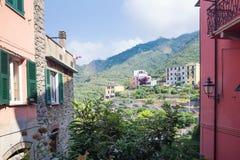 Corniglia, Italy, La Spezia Province, Liguria Regione, 07 august, 2018: The townscape of Corniglia. Charming narrow picturesque. Street with traditional royalty free stock images