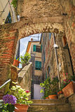 Corniglia, piękna wioska w Cinque Terre parku narodowym Obraz Royalty Free
