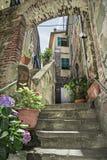 Corniglia, piękna wioska w Cinque Terre parku narodowym Obrazy Royalty Free