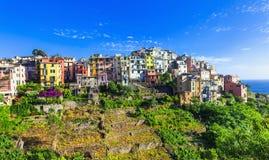 Corniglia- pictorial village in famous Stock Photo