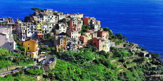 Corniglia, terre de Cinque, Italie photographie stock