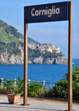 Corniglia train station Royalty Free Stock Photography