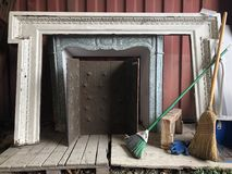 Cornijas de lareira históricas Fotografia de Stock
