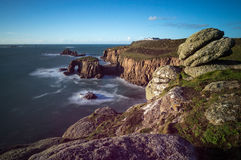 Cornish ακτή σε Sennen Στοκ Εικόνα
