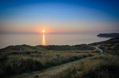Cornish ηλιοβασίλεμα Στοκ Φωτογραφίες