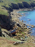 Cornish ναυάγιο Στοκ εικόνα με δικαίωμα ελεύθερης χρήσης