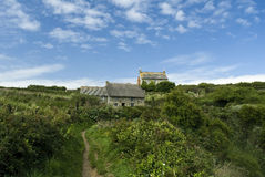 Cornish σπίτια Στοκ φωτογραφία με δικαίωμα ελεύθερης χρήσης