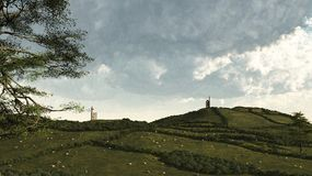 Cornish τοπίο αγροτικό στοκ εικόνα με δικαίωμα ελεύθερης χρήσης