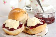 Cornish τσάι κρέμας Στοκ Εικόνες