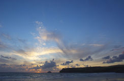 cornish заход солнца Стоковые Фотографии RF
