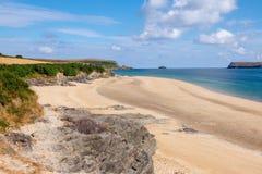 Cornish пляж стоковые фотографии rf