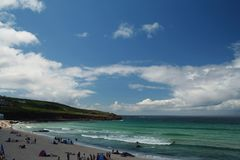 Cornish Beach. View from a beach in St Ives, Cornwall Royalty Free Stock Images
