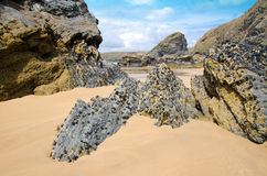 Cornish beach, Bedruthan steps, Cornwall, UK Stock Images