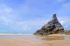Cornish beach, Bedruthan steps, Cornwall, UK Royalty Free Stock Photography