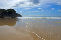 Cornish beach, Bedruthan steps, Cornwall, UK Royalty Free Stock Photos