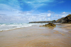 Cornish beach, Bedruthan steps, Cornwall, UK Royalty Free Stock Photo