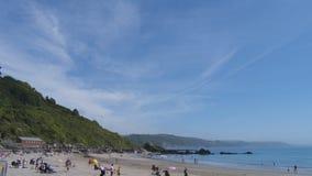 Cornish beach view stock photography