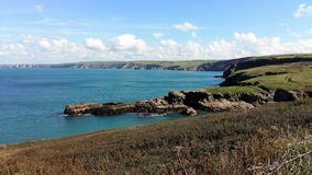 The Cornish Cliffs. This photo is taken along Port Issac, which is loacted in cornwall, UK Royalty Free Stock Image