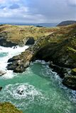 Cornish Coast. Landscape of Cornish Coast near Tintagel royalty free stock image