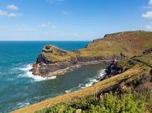 Cornish coast Boscastle Cornwall England UK beautiful autumn day Stock Photos