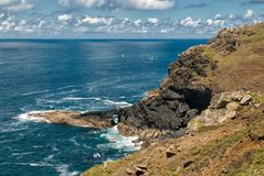 Cornish Coast at Botallack stock photography