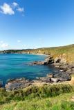 Cornish coast Kenneggy Sand Cornwall England near Praa Royalty Free Stock Photography