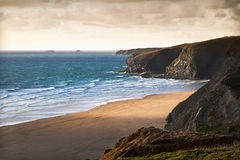 Cornish coast near Newquay, Cornwall, England Stock Photography