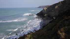Cornish coast north east of Portreath Cornwall Stock Photography