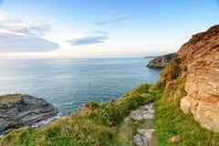 Cornish Coast at Portreath Stock Photography