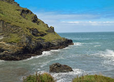 Cornish coast. On a sunny day Royalty Free Stock Photos