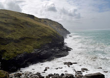 Cornish coast. On a windy day Royalty Free Stock Photography