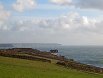 Cornish Coastline Near Porthleven. A winter view of the coastline near Porthleven in southwest Cornwall looking towards the Lizard Stock Images