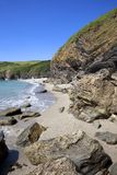 Cornish coastline in Summer, Cornwall Royalty Free Stock Photography