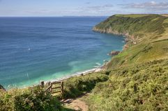 Cornish coastline in Summer, England Royalty Free Stock Images